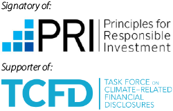 Signatory of Principles for Responsible Investing and Supporter of TCFD